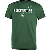 Nike Youth Michigan State Spartans Green FootbALL Sideline Legend T-Shirt