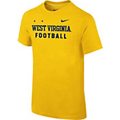 Nike Youth West Virginia Mountaineers Gold Football Sideline Facility T-Shirt