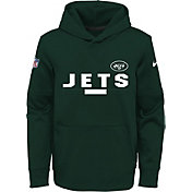 Nike Youth New York Jets Therma-FIT Green Performance Pullover Hoodie