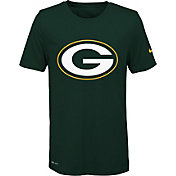 Nike Youth Green Bay Packers Legend Logo Green Performance T-Shirt