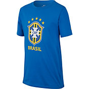 Nike Youth 2018 FIFA World Cup Brazil Crest Royal T-Shirt