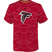 NFL Team Apparel Youth Atlanta Falcons Vector Camo Dri-Tek T-Shirt