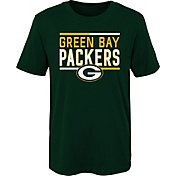 NFL Team Apparel Boys' Green Bay Packers Flag Runner Green T-Shirt