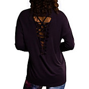 Onzie Women's Dhalia Braid Back Long Sleeve Shirt