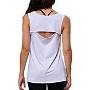 Onzie Women's White Open Back Tank Top
