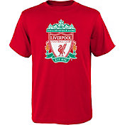 adidas Youth Liverpool Logo Red T-Shirt