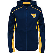 Gen2 Youth West Virginia Mountaineers Blue Hi-Tech Full-Zip Hoodie