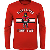 NHL Youth Chicago Blackhawks Mascot Red Long Sleeve Shirt