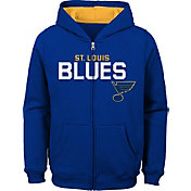NHL Youth St. Louis Blues Stated Navy Full-Zip Hoodie