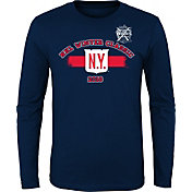NHL Youth 2018 Winter Classic New York Rangers Stripe Navy Long Sleeve Shirt