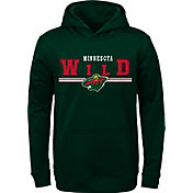 NHL Youth Minnesota Wild MVP Green Pullover Hoodie