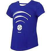 Reebok Girls' Cotton Softball Wi-Fi Strap Back T-Shirt