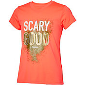 Reebok Girls' V-Neck Scary Good Graphic T-Shirt