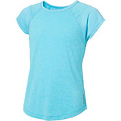 Reebok Girls' Fabric Mix T-Shirt