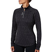 Reebok Women's Performance Melange Quarter Zip Long Sleeve Shirt