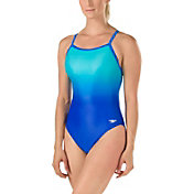 Speedo Women's Ombre Print Flyback Swimsuit