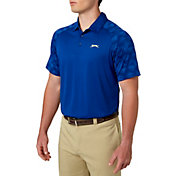 Slazenger Men's Mineral Jacquard Sleeve Golf Polo