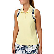 Slazenger Women's Grey Matter Collection Printed Racerback Golf Polo