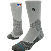 Stance MLB Diamond Pro On-Field Grey Sock
