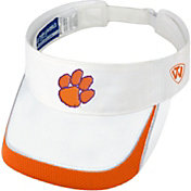 Top of the World Men's Clemson Tigers White Teed Off Visor