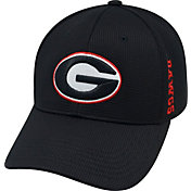 Top of the World Men's Georgia Bulldogs Black Booster Plus 1Fit Flex Hat