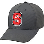Top of the World Men's NC State Wolfpack Charcoal Booster Plus 1Fit Flex Hat