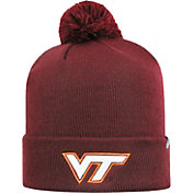 Top of the World Men's Virginia Tech Hokies Maroon Pom Knit Beanie