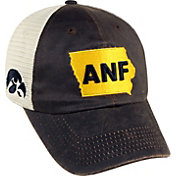 Top of the World Men's Iowa Hawkeyes Black/White ANF Off Road Adjustable Hat