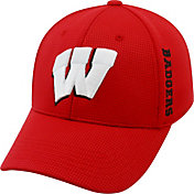 Top of the World Men's Wisconsin Badgers Red Booster Plus 1Fit Flex Hat