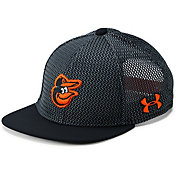 Under Armour Men's Baltimore Orioles Knit Adjustable Trucker Hat