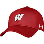 Under Armour Men's Wisconsin Badgers Red Blitzing Stretch Fit Hat