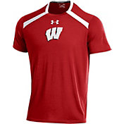 Under Armour Men's Wisconsin Badgers Red Threadborne Vented Tech T-Shirt