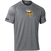 Under Armour NFL Combine Authentic Men's Minnesota Vikings Logo Grey Tech Performance T-Shirt