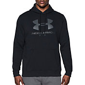 Under Armour Men's Rival Fleece Fitted Big Logo Graphic Hoodie