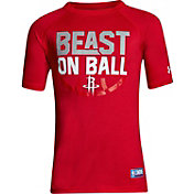 "Under Armour Youth Houston Rockets ""Beast On Ball"" Red Tech Performance T-Shirt"