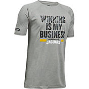 Under Armour NFL Combine Authentic Youth Jacksonville Jaguars Winning Business Grey T-Shirt