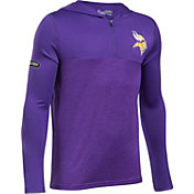 Under Armour NFL Combine Authentic Youth Minnesota Vikings Tech Purple Quarter-Zip Hoodie