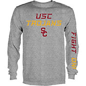 USC Authentic Apparel Men's USC Trojans Grey Dash Long Sleeve Shirt