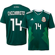 adidas Men's Mexico Javier 'Chicharito' Hernandez #14 Stadium Home Replica Jersey