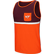 Colosseum Men's Virginia Tech Hokies Maroon/Burnt Orange Lollygaggers Tank Top