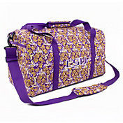 Eagles Wings LSU Tigers Quilted Cotton Large Duffle Bag