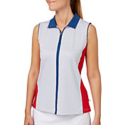 Lady Hagen Women's Americana Stripe Sleeveless Golf Polo