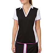 Lady Hagen Women's Twilight Collection Colorblock Short Sleeve Golf Polo - Plus Size
