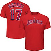 Majestic Boys' Los Angeles Angels Shohei Ohtani #17 Red T-Shirt