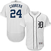 Majestic Men's Authentic Detroit Tigers Miguel Cabrera #24 Flex Base Home White On-Field Jersey