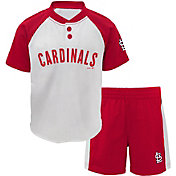 Majestic Toddler St. Louis Cardinals Good Hit Shorts & Top Set