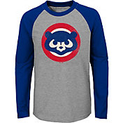 Majestic Youth Chicago Cubs Glory Days Raglan Long Sleeve Shirt