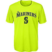 Majestic Youth Seattle Mariners Glowing Game Neon T-Shirt