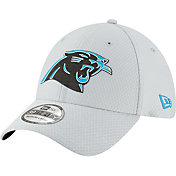New Era Men's Carolina Panthers Sideline Training Camp 39Thirty Grey Stretch Fit Hat