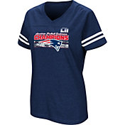 NFL Women's AFC Conference Champions New England Patriots Delivering Victory Navy T-Shirt